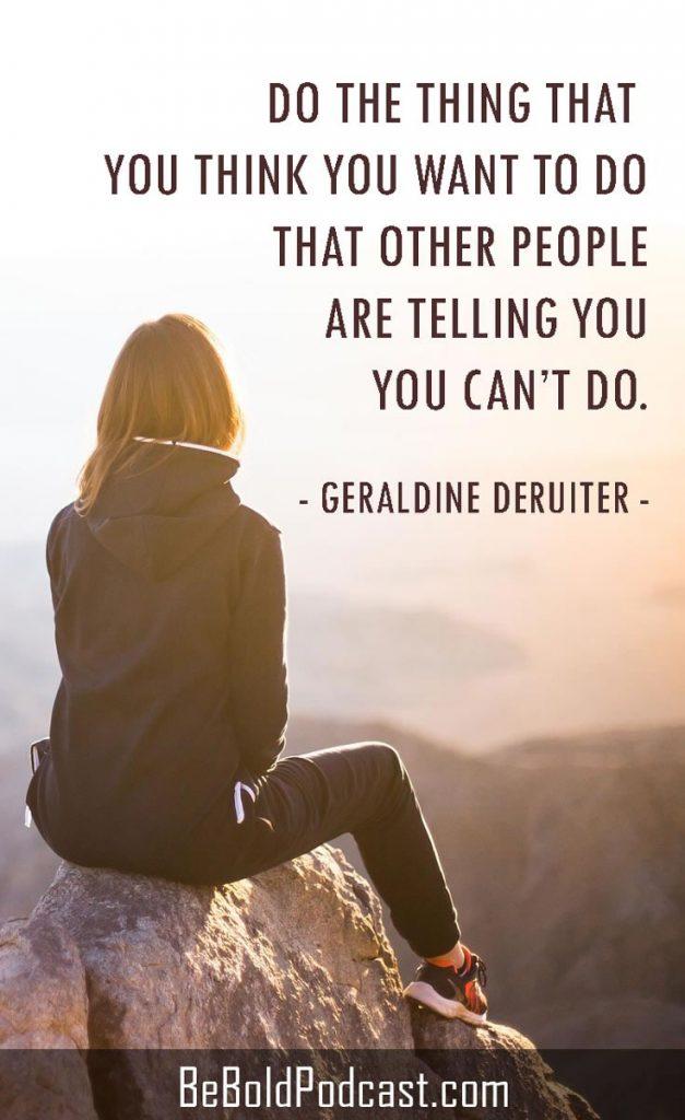 Geraldine DeRuiter She's Bold